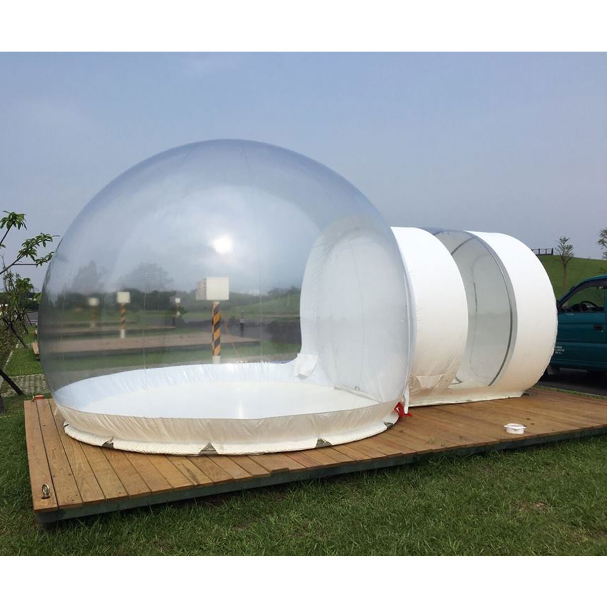 SGODDE gonflable Eco maison tente bricolage maison luxe dôme Camping cabine Lodge bulle d'air