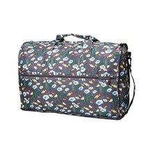 1a3ecca127 Folding Women s Travel Bag Nylon Large Ladies Carry On Bag Waterproof  Travel Duffle Weekend Cabin Bag