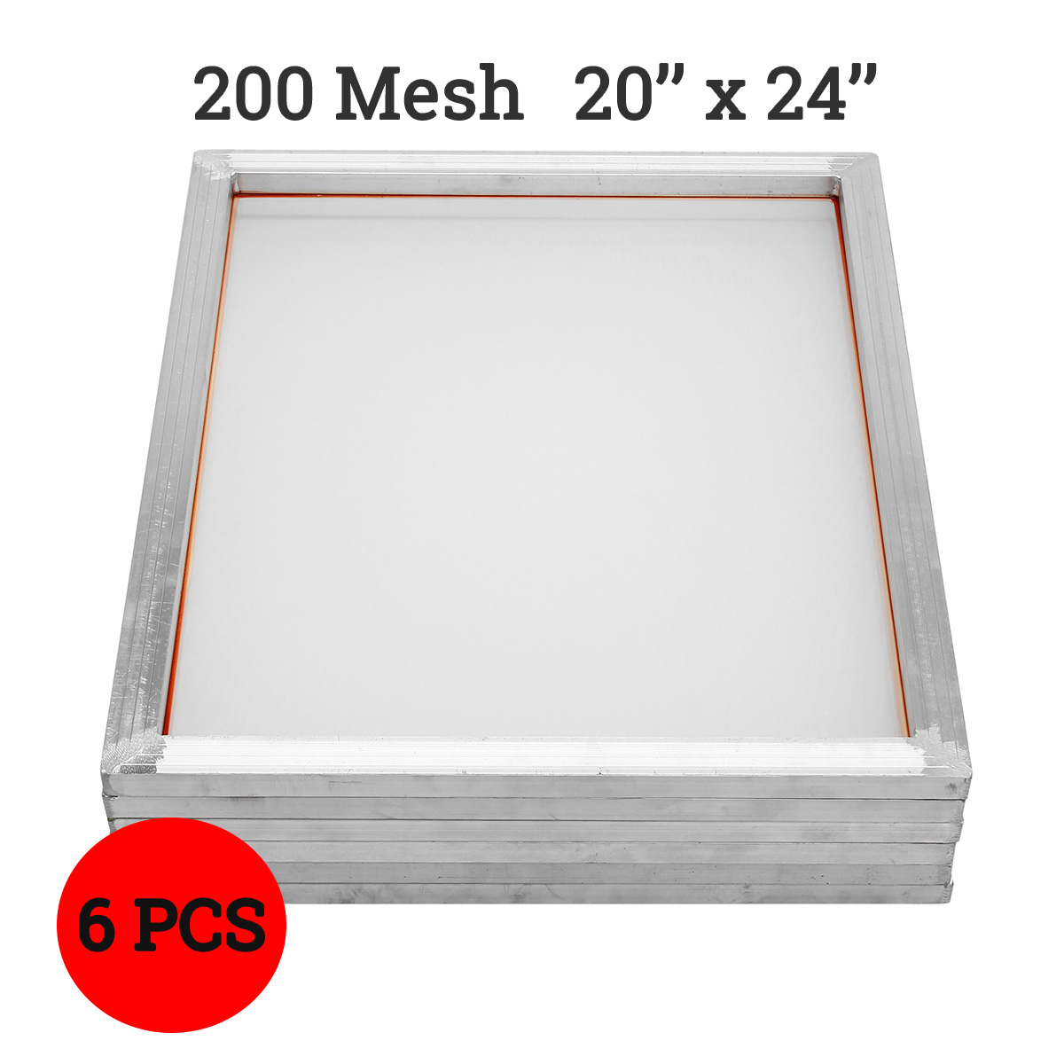 2019 6pcs set 200T Mesh Aluminum Silk Screen Printing Press Frame Screens White Out Size 50x60cm