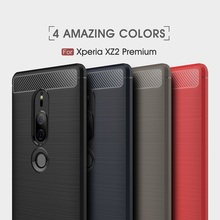 Silicone Case For Sony Xperia XA2 L2 Case For Sony XA1 XZ2 Cover For Sony L2 XZ3 Carbon Fiber TPU for XZ2 Compact Cover Coque цена и фото