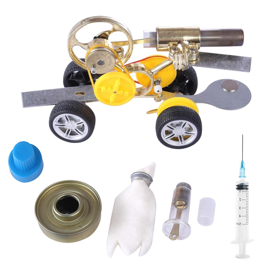 Stirling Engine Model Motor Kits Driving Car Model Building Kits Learning Toys For Children