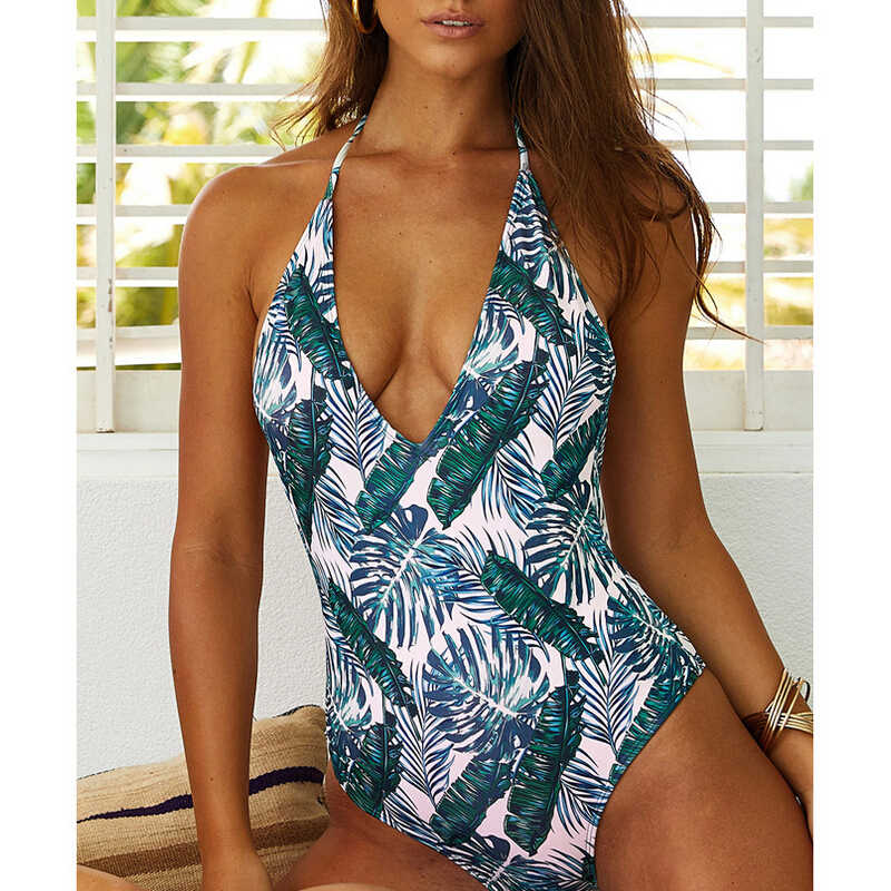 Maillot de bain d'été femmes maillot de bain Push Up rembourré dame maillot de bain bikini une pièce maillot de bain femme Monoki