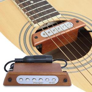 """Image 5 - Flanger acoustique Folk bois guitare son trou pick up magnétique Guitarra micros pour 39 """"/40""""/41 """"/42"""" accessoires guitare FP 02"""