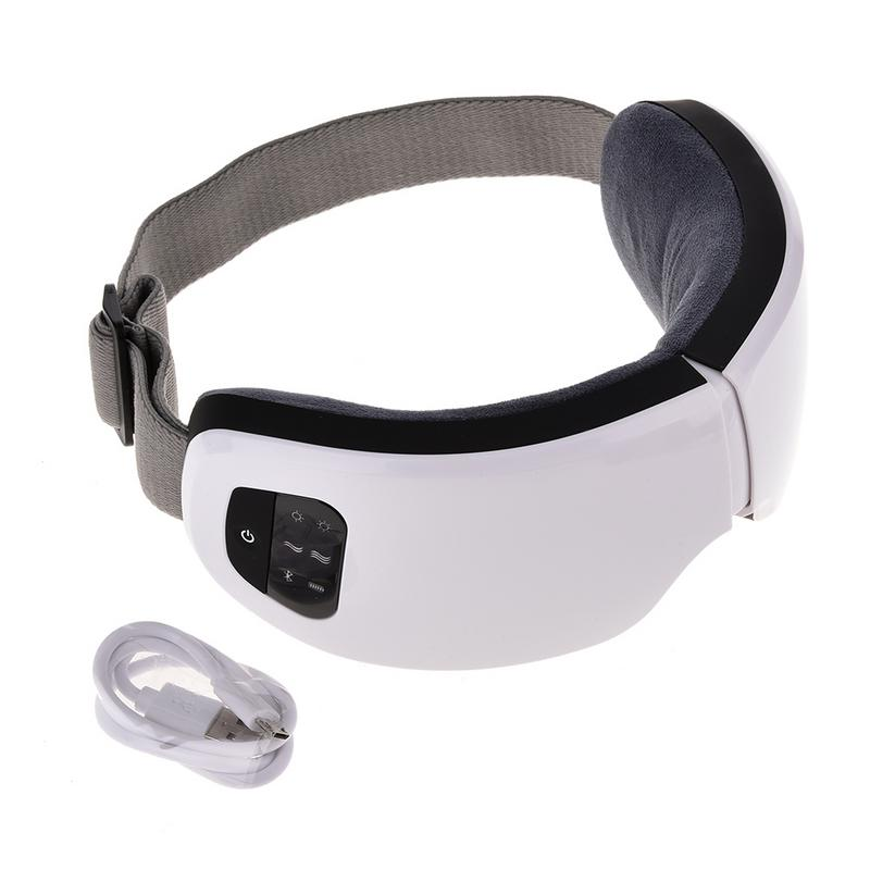 New Wireless USB Rechargeable Bluetooth Foldable Eye Massager Adjustable Air Pressure Eye Protector For Health Care
