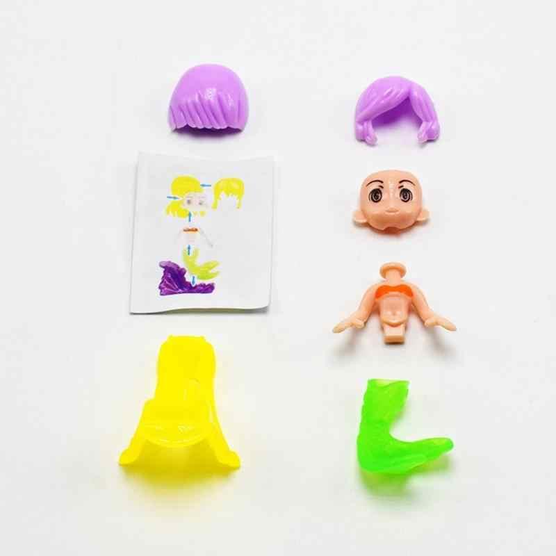 Moda Bonito DIY Bonecas Sereia Princesa Brinquedos Para Meninas Crianças dos miúdos Envio Aleatório Altura Sobre 5 CENTÍMETROS de Natal Presente de Aniversário
