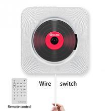 مشغل أقراص مضغوطة مثبت على الحائط بلوتوث محمول بومبوكس صوتي منزلي مع جهاز تحكم عن بعد راديو FM مدمج HiFi مكبرات صوت USB MP3