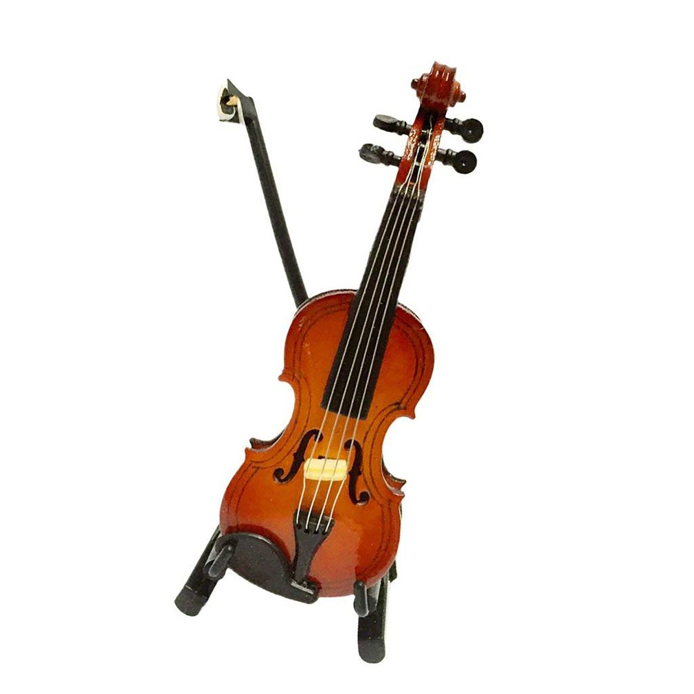 Dollhouse Miniature Doll House Violin (12cm high) for Dollhouse Decor Kids ToyDollhouse Miniature Doll House Violin (12cm high) for Dollhouse Decor Kids Toy
