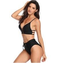 ECTIC 2019 Sexy Bandage Bikinis Women Printing Bra Bikini Split Body Swimsuit Beachwear Suit Swimwear