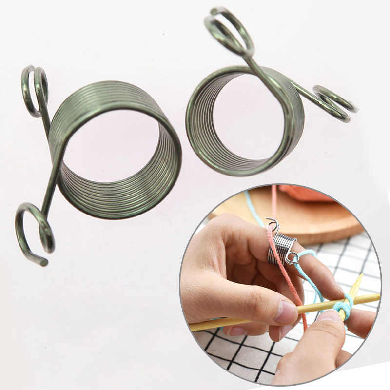 Sale 1PC DIY Guides Braided Knuckle Assistant Knitting Tool Thimble  Stainless Steel Sewing Accessories Jacquard Needle