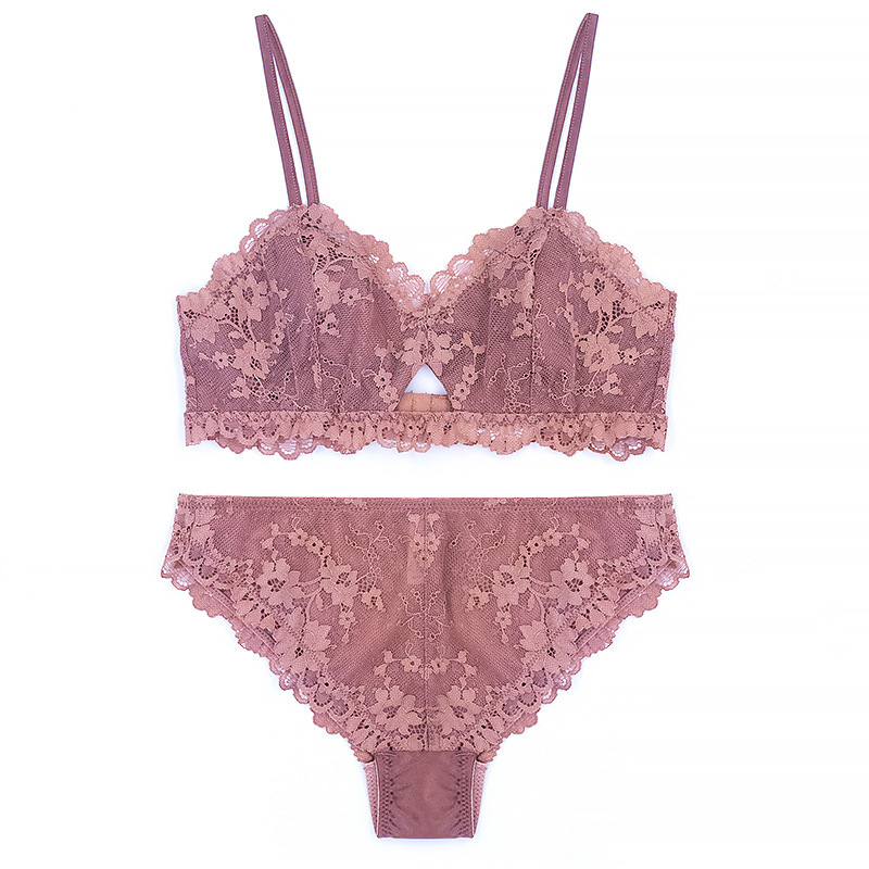 Buy Brands Lace Mesh Bra Brief Sets Solid Lingerie Set France Style Bralette Women Thin Underwear Set Sexy Intimate Lingerie