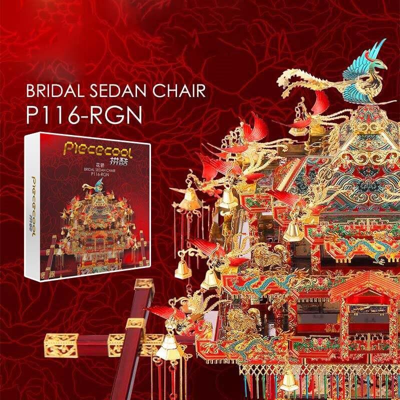 Piececool 3d Metalen Puzzel Speelgoed Jigsaw Building Kits Montage China Bridal Sedan Chair Model Collection Kids Speelgoed Valentijnsdag Geschenk