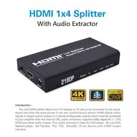 4x1 HDMI Splitters Multi functional Switcher Support ARC/ Audio Frequency Separating Mobile Phone And Computer To TV Set