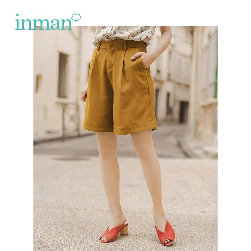 INMAN 2019 nueva llegada de verano minimalismo todos coincidentes Slim literaria suelto de las mujeres pantalones medio