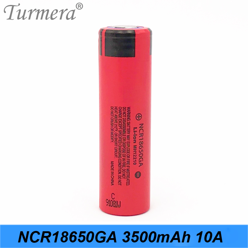 2019 Original 18650 battery 3500mAh 3.6v NCR18650GA 10A Discharge Current for electric bike and e-cigarette use