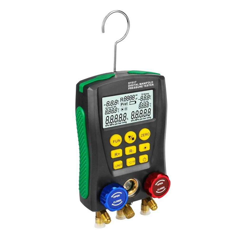 DY517 Pressure Gauge Digital Vacuum Pressure Manifold Tester Temperature TesterDY517 Pressure Gauge Digital Vacuum Pressure Manifold Tester Temperature Tester