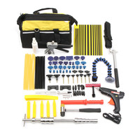71Pcs/set Professional Car Dent Repair Hammer Puller Lifter Glue Taps Tools Kit Bag Repair Tools Car Maintenance