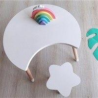 Детская мебель в скандинавском стиле, детский стол и стул, украшение для детской комнаты, стол для учебы, декор для детской комнаты