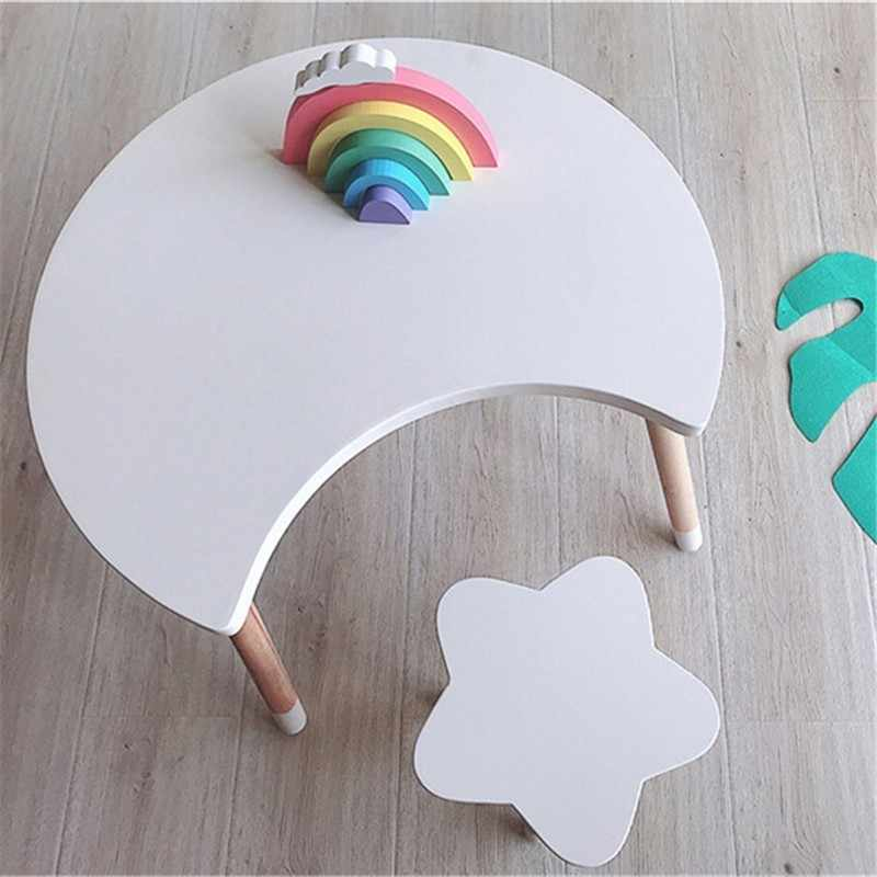 Мебель для детской комнаты в скандинавском стиле, стол и стул для детской комнаты