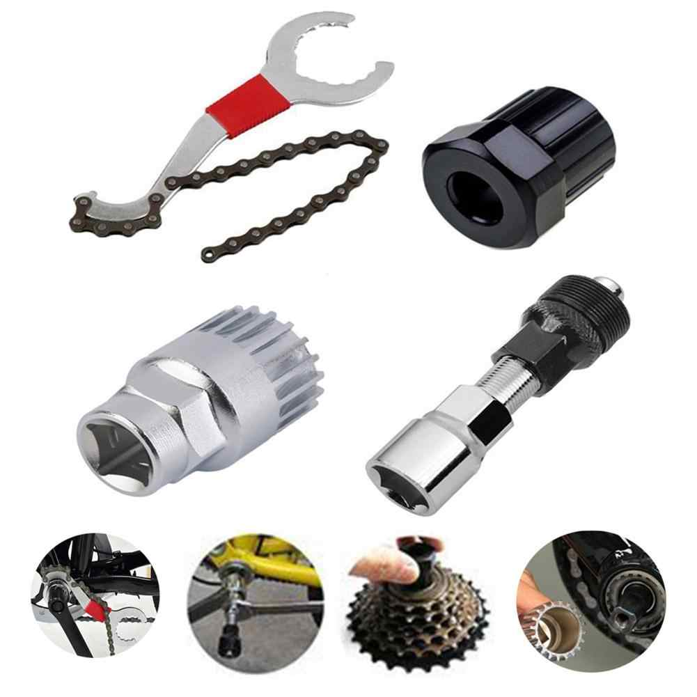 4pcs Set di Utensili di Riparazione Bicicletta Ciclismo MTB Bici Catena Crank ASSALE Kit di strumenti