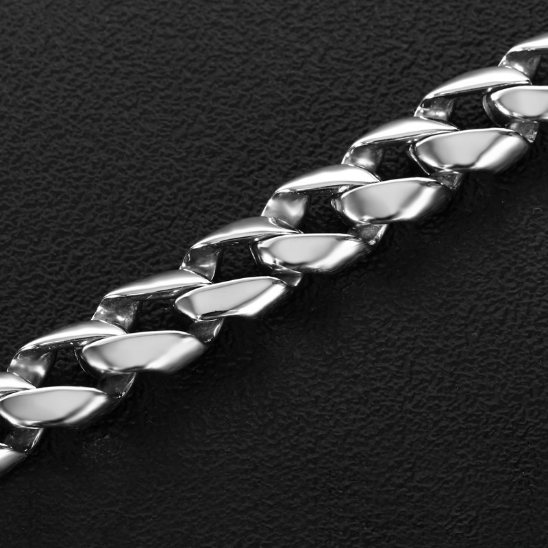 Minimalist Heavy Mens Bracelet Silver Stainless Steel Viking Big Chain Bracelet Cool Men Jewelry Gifts For Him Bracelets in Chain Link Bracelets from Jewelry Accessories