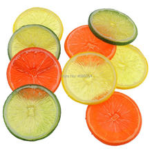 Gresorth 9 PCS Artificial Orange Slice Fake Fruits Slices Decoration Photography Props