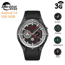 368bb7e3237 KingWear KW88 Pro 3G Smartwatch Phone Android 7.0 Quad Core 1.3GHz 1GB 16GB  Bluetooth 4.0