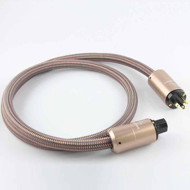 JP Accuphase importé 3 broches US EU AU 15A C13 cordon d'alimentation en cuivre cristallin 1.5 M câble d'alimentation HIFI pour ligne d'alimentation amplificateur audio-in Prise électrique from Electronique    1