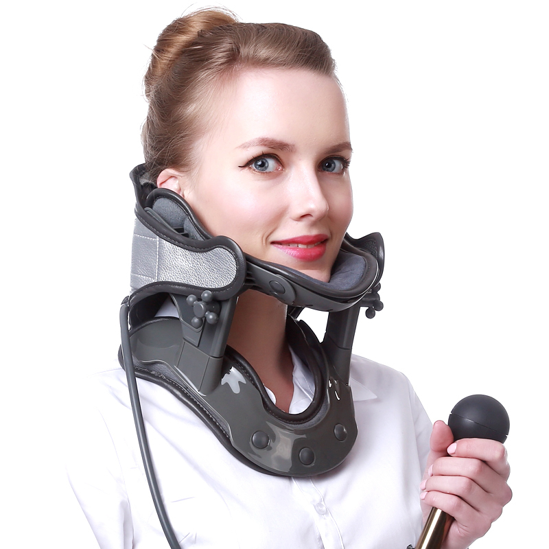 Inflatable Cervical Tractor Home Stretch Neck Neck Strap Adult Pain Neck Supprot Adjustable Neck Brace New