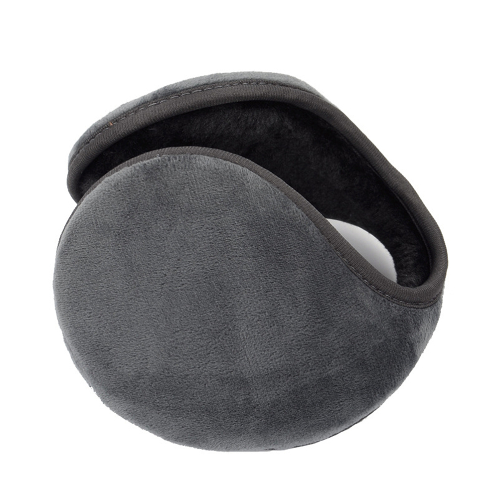 Winter Unisex Men Fleece Earmuff Warm Plush Cloth Ear Muffs Cover Solid Adjustable Earwarmers Ear Muffs For Men Women