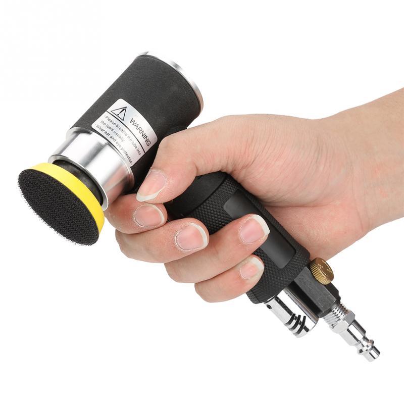 Mini Air Angle Sander 90 Degree Pneumatic Polishing Grinding Machine + 2inch 3inch Sanding Pad Air Angle Polisher Power Tools Шлифовальные машины