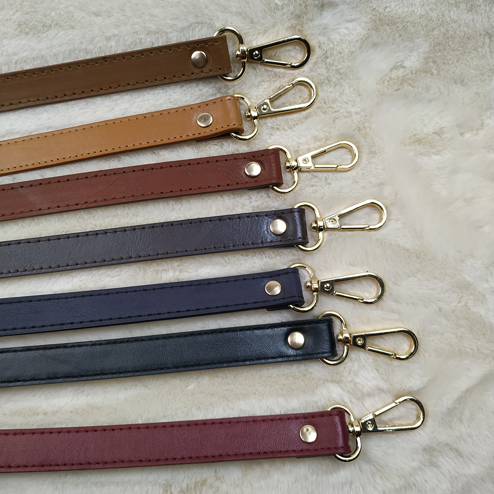120cm PU Leather Adjustable Bag Belt DIY Obag Handles Handbag Shoulder Bag Strap Replacement Gold Silver Buckle Bag Accessories