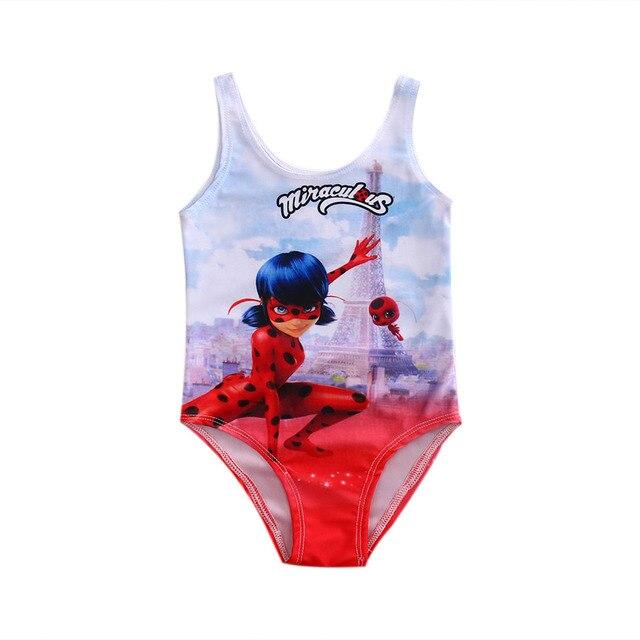 2017 новый милый персонаж для маленьких девочек детский цельный купальный костюм комплект купальный Купальник