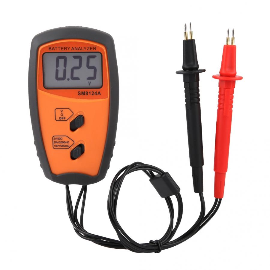 SM8124 Internal Battery Resistance Impedance Meter Battery Resistance Voltmeter 200V Battery Tester Low Voltage prompt