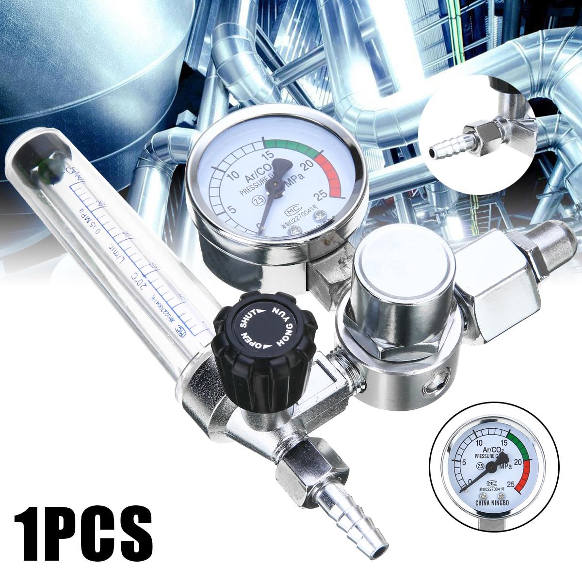 Argon CO2 Mig Tig Flow Meter Gas font b Regulator b font Flowmeter Welding Weld Gauge