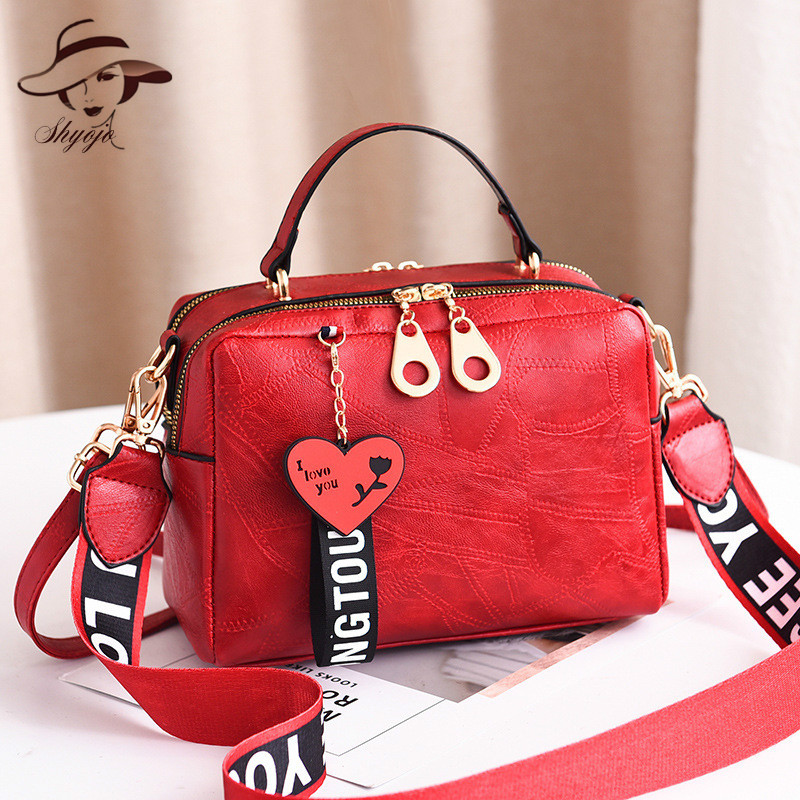 2019 Autumn And Winter Woman Handbags Comfortabl Ma'am Single Shoulder Bag Wide Strap Totes Causual Gril's Corssbody Day Clutch
