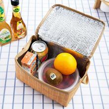 Открытый Портативный изолированный ящик для пикника Водонепроницаемый тепловой тканый большой емкости мешок для кемпинга изоляционный ящик для хранения пищи#1121