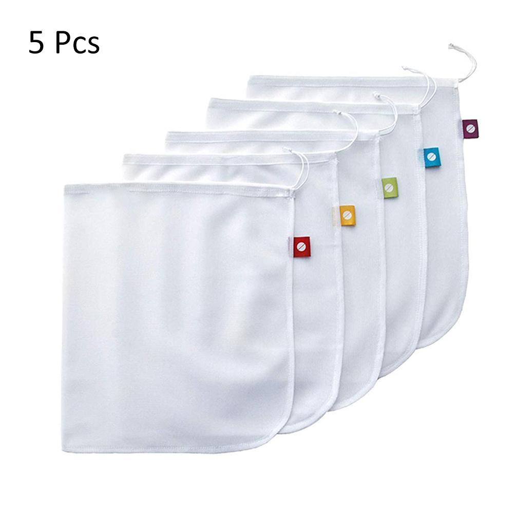 bdd0a6a24cbf 9pcs/set Premium Organic Cotton Mesh Produce Bags Reusable Washable ...