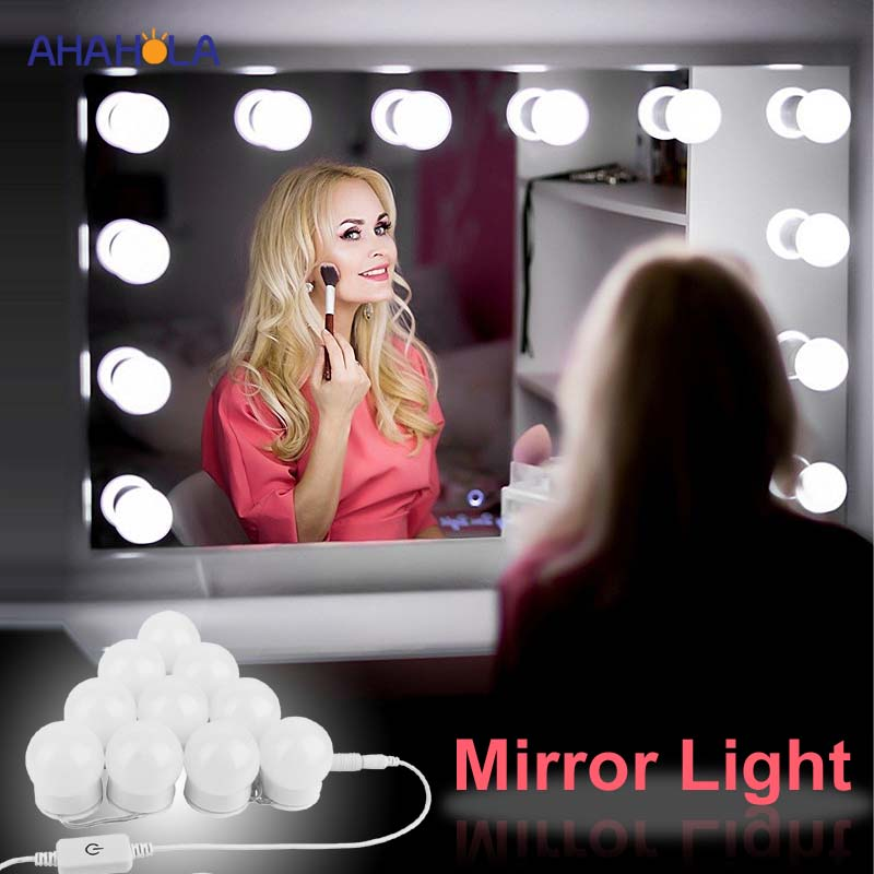 Modern Bathroom Led Mirror Light Wall Lamps Makeup Mirror Lights Bulbs Vanity Bathroom Light Led Mirror Light Wall Lampada