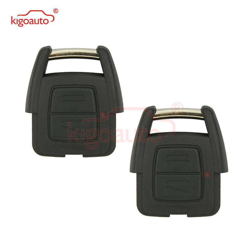 Kigoauto 2 pièces 93176615 pour Opel Vauxhall Holden Astra G Zafira A 2000 2001 2002 2003 2004 télécommande clé fob 2 bouton 433Mhz