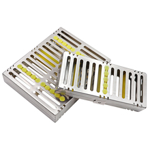 Dental Sterilization Cassette Rack Tray Box for 5/10 pcs Rack Rubber Linker Instrument Clinic Disinfection Holder dental sterilization autoclave cassette tray box rack rubber linker instrument clinic disinfection holder for 5 10pcs surgical