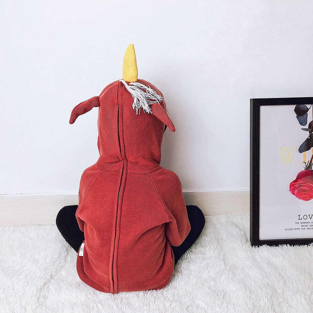 Bayi Anak Laki-laki Anak Perempuan Sweatshirt Berkerudung Jaket Pakaian 3D Rusa Pakaian untuk Anak Balita Pakaian