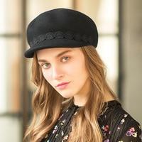 Spring Winter Female French Beret Duckbill Cap Wool Felt Hats Autumn Retro Elegant Ladies Caps Newsboy Warm Hat Grey Black Camel