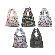 Hot Waterproof Reusable Shopping Bags Women Foldable Tote Bag Portable Cloth Eco Grocery Folding Large Capacity Handbags