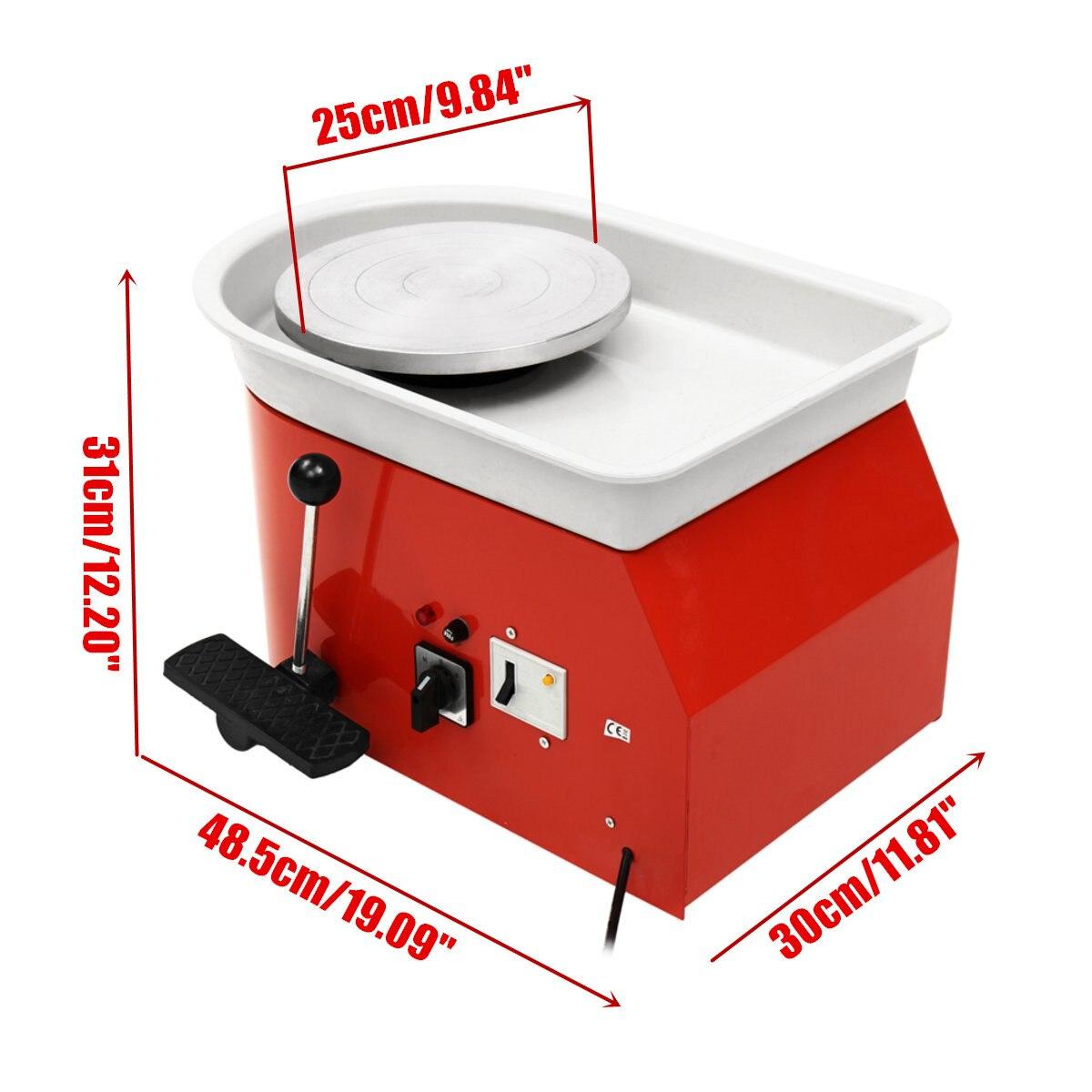 220 V 250 W poterie électrique roue 25 cm poterie formant la Machine argile pour travaux pratiques sculpture céramique Machine Variable vitesse réversible - 6