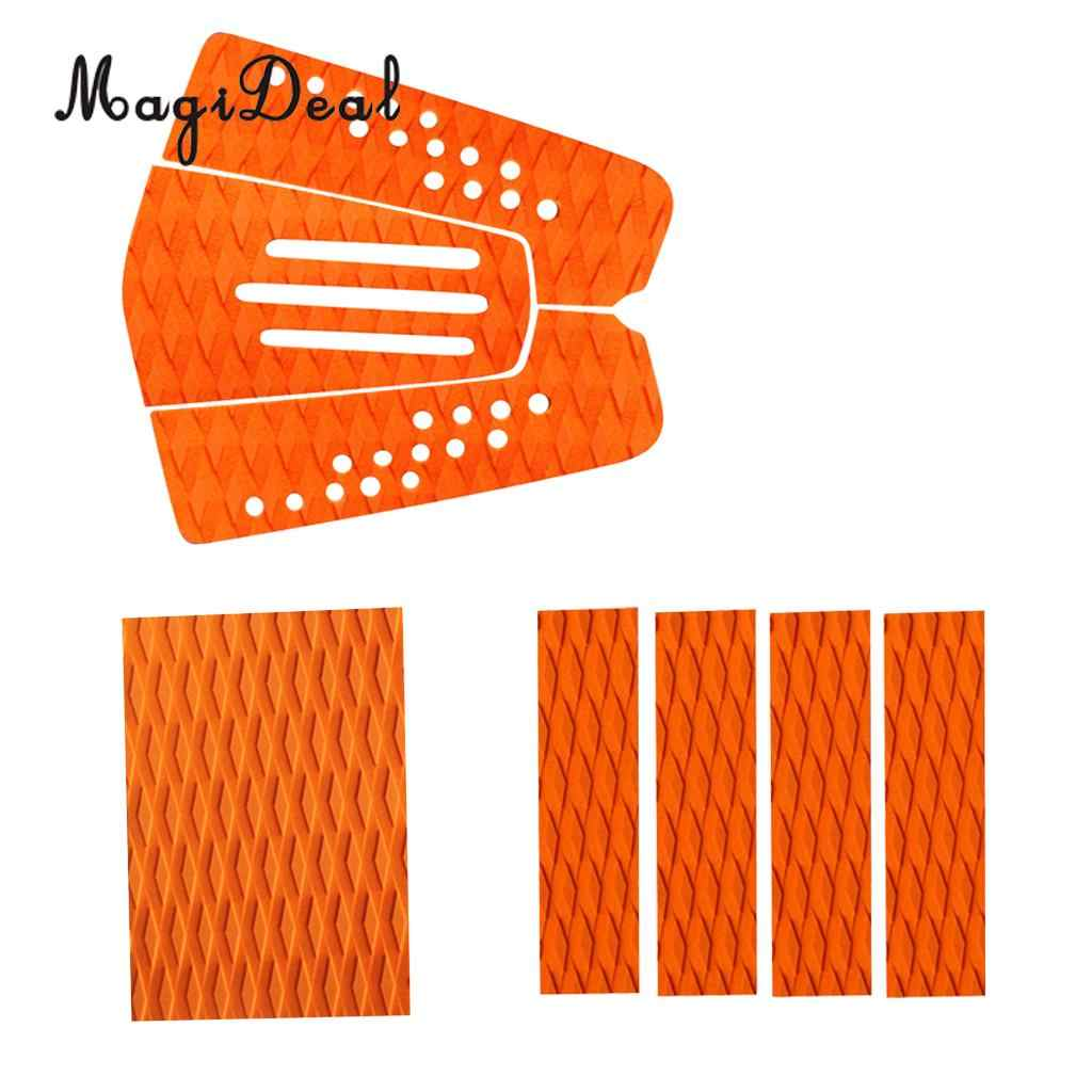 MagiDeal 8 pièces Orange antidérapant EVA planche de Surf Surf coussin de Traction pont poignée queue tampons pour Bodyboards Kiteboards ecuboard Acce
