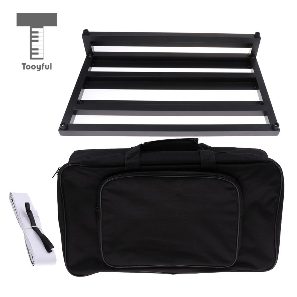 Portable Aluminum Guitar Effect Pedalboard with Gig Bag for Guitar Parts Accessories