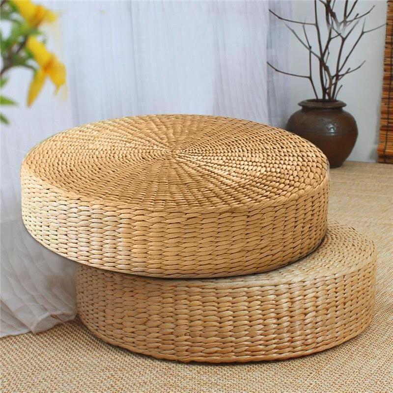 Matratzen Möbel Brillant 40x7,5 Cm Natürliche Stroh Weben Runde Hocker Tatami Kissen Boden Kissen Meditation Yoga Runde Matte Hause Schlafzimmer Stuhl Kissen Schrecklicher Wert