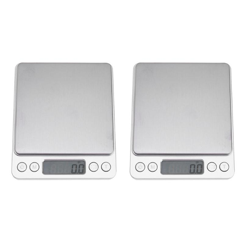 500g x 0.01g 2kg x 0.1g 3kg x 0.1g Portable Mini Electronic Digital Scale Pocket Case Postal Kitchen Jewelry Weight Scales Libra