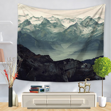 Landscape Mandala Tapestry Wall Hanging Hippie Mountain Cactus Decor Psychedelic Abstract Cloth Tapestries Carpet