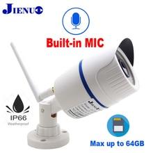 JIENUO kamera wifi cctv ip 720P 960P 1080P HD bezprzewodowa ochrona zewnętrzna wodoodporna Audio Micro IPCam podczerwieni nadzoru domu